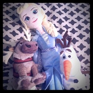 3 Plush Ty brand Disney's Frozen Characters